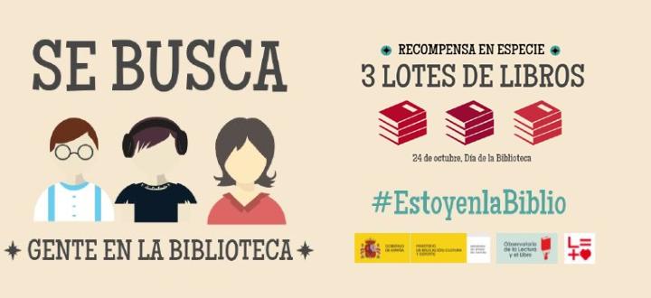 Campaña 'Estoy en la Biblio' para celebrar el Día de la Biblioteca 2017.