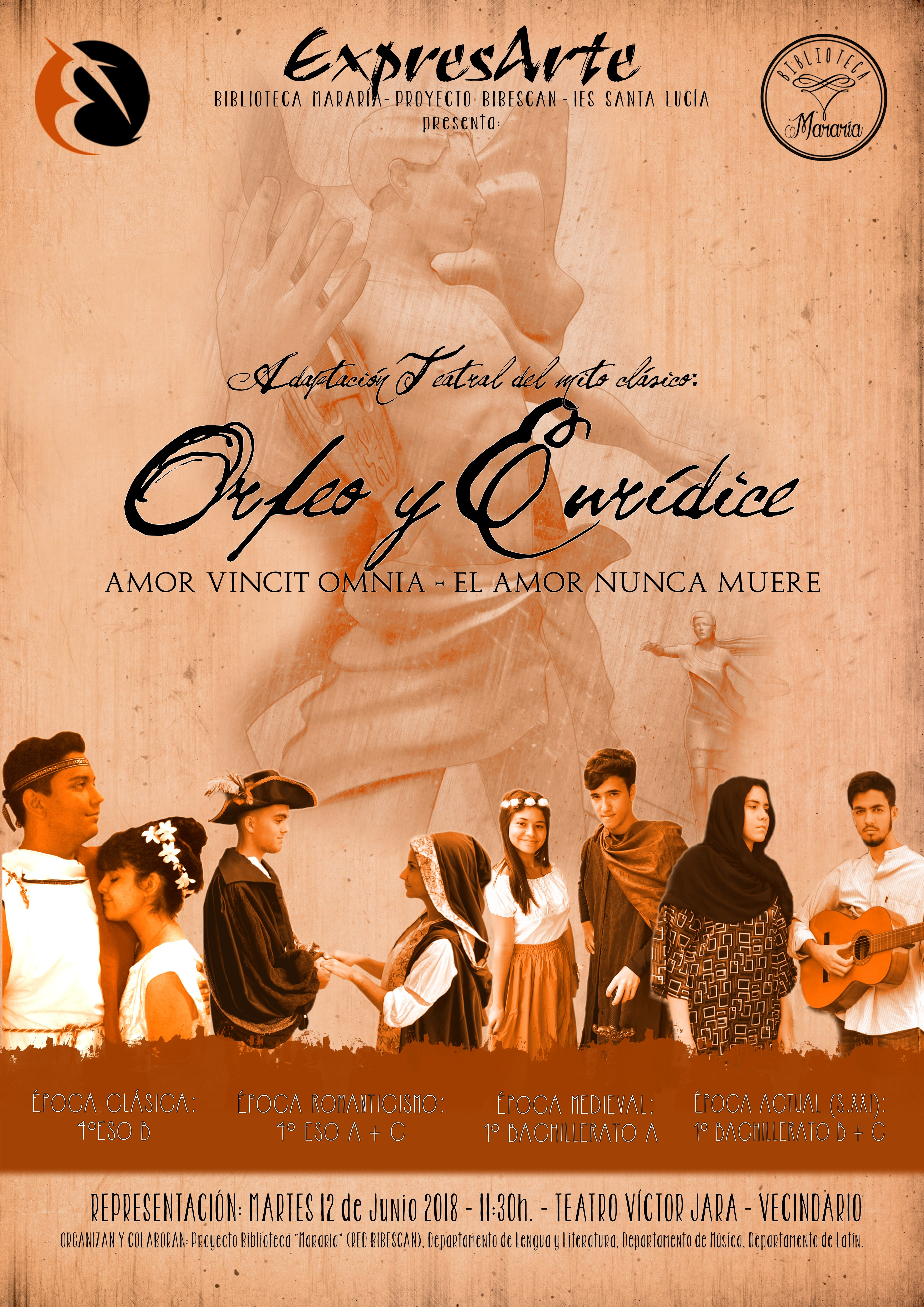 """VÍDEO: Obra de Teatro """"Orfeo y Eurídice"""""""